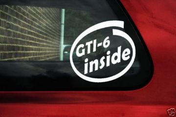 GTI-6 inside stickers ideal For Peugeot 306 16v GTi6